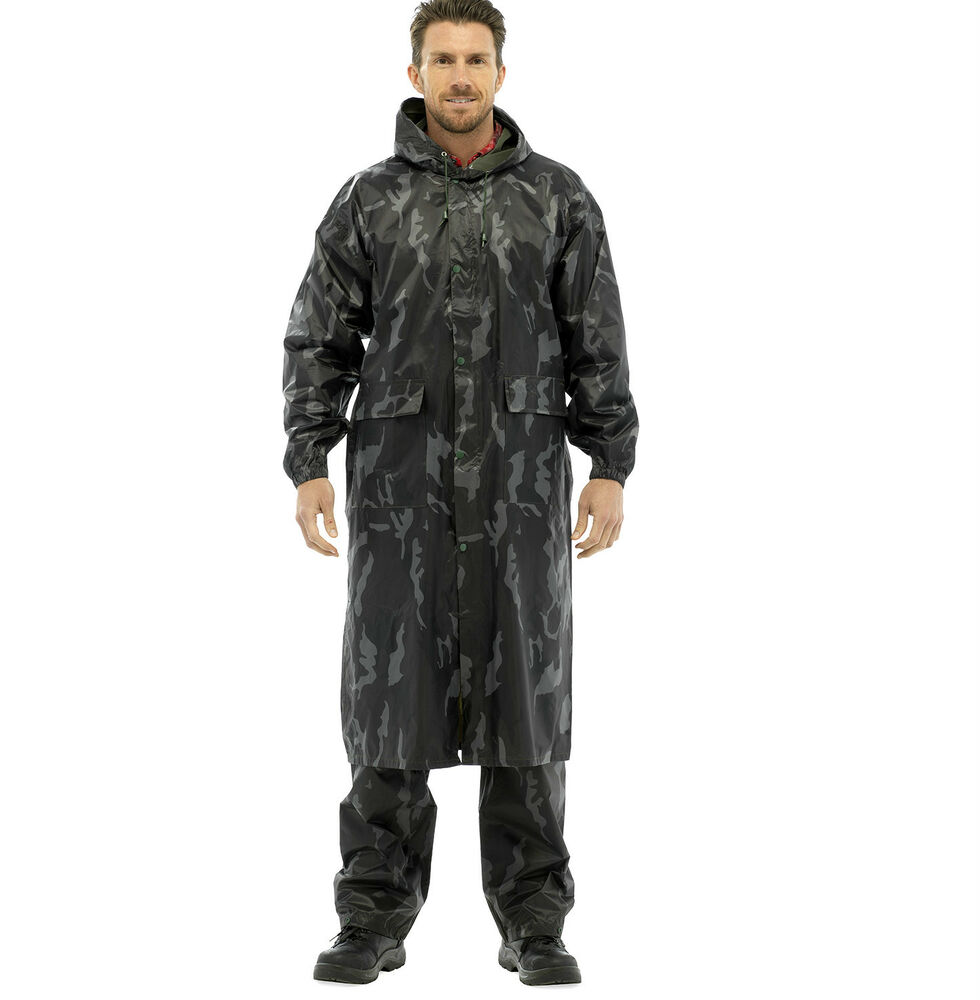 New mens waterproof rain coat jacket over trousers pants for Mens fishing rain gear