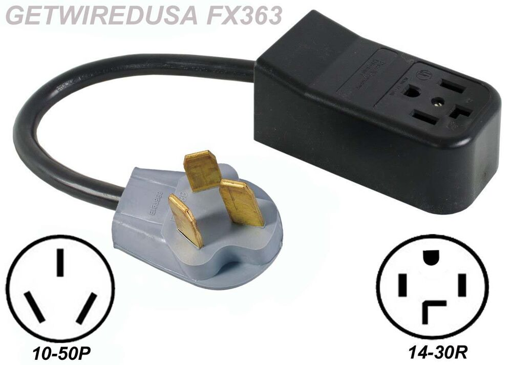 New 4 Prong 14 30r Dryer Receptacle To Old 3 Pin 10 50p