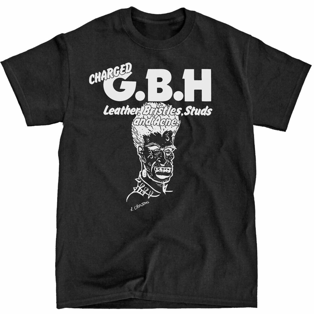 charged gbh g b h rockabilly t shirt shirt crass ebay. Black Bedroom Furniture Sets. Home Design Ideas