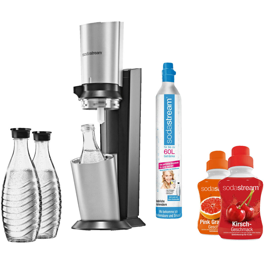 sodastream 1016513495 crystal wassersprudler titan silber ebay. Black Bedroom Furniture Sets. Home Design Ideas