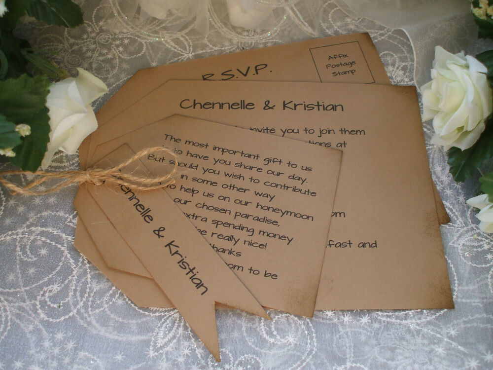 What To Include In A Wedding Invitation Pack: SAMPLE OF A PERSONALISED VINTAGE RUSTIC WEDDING INVITATION
