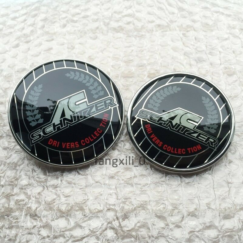 2pcs Colorful Ac Schnitzer Rear Front Badge Sticker Trunk