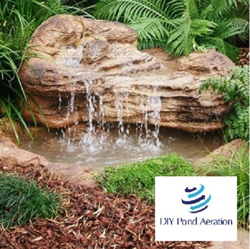 Faux waterfall rock for fish koi ponds pools water garden for Decorative pond fish