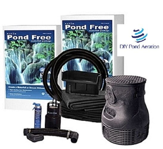 New savio pondless waterfall pond free kit w 8 39 stream for Pond waterfall kit
