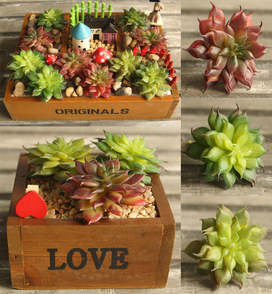 New real touch artificial succulents lotos flower plants for Real plants for home decor