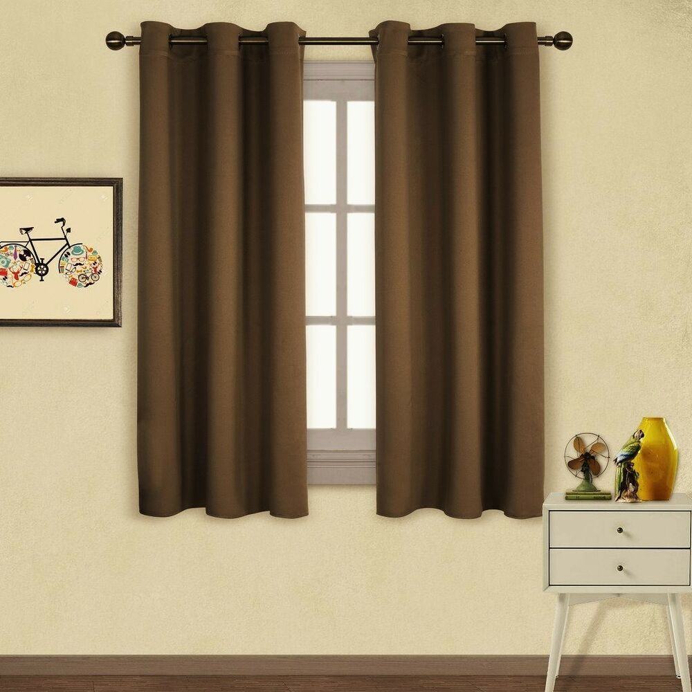1 PANEL BROWN LINED THERMAL BLACKOUT ANTIQUE GROMMET
