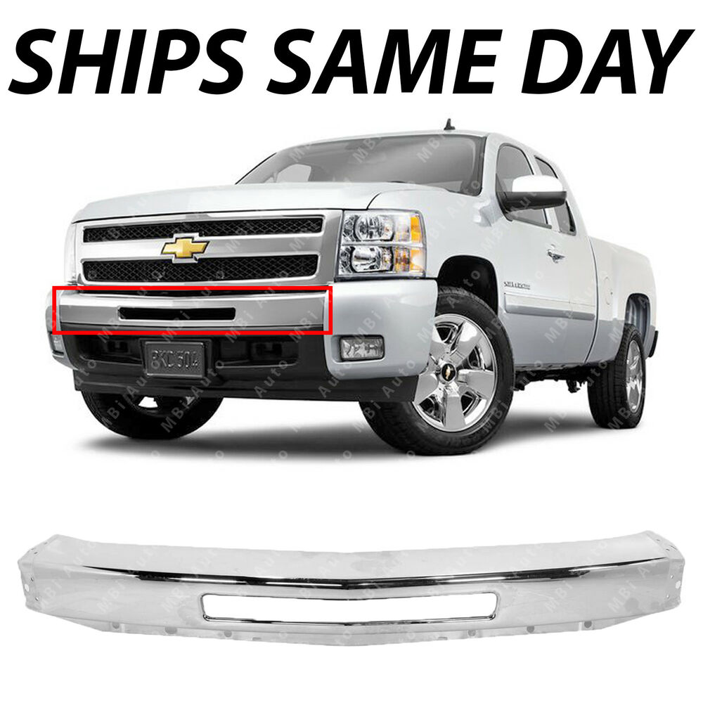 NEW Chrome Steel Front Bumper Impact Face Bar For 2007