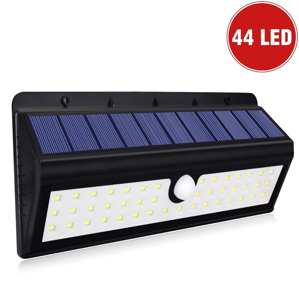 Solar Powered 44 Led Dusk To Dawn Waterproof Motion Sensor