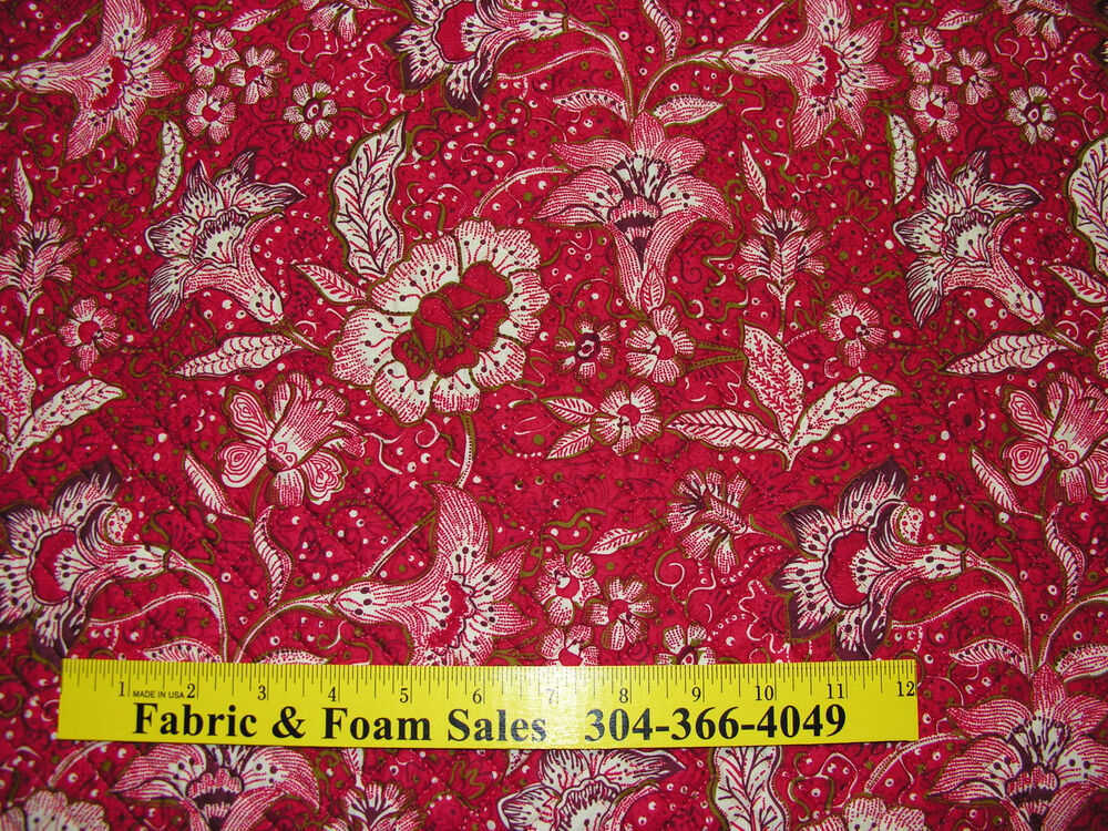 Double Sided Pre Quilted Dfq Fabric Fantasy Floral By
