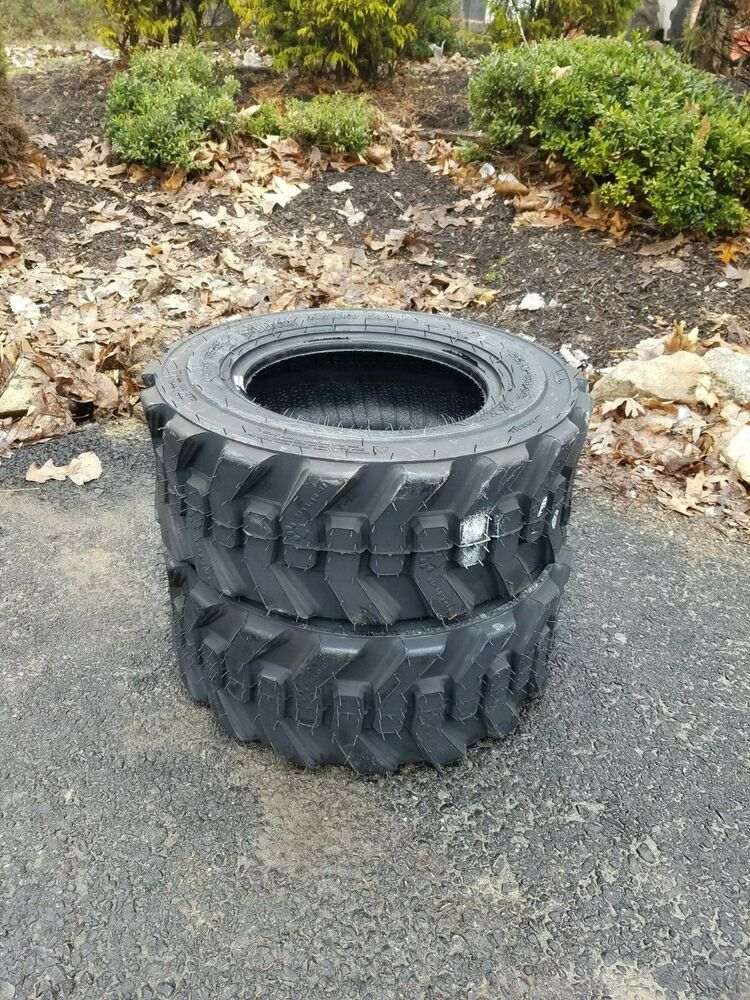 2 New 23x8 5-12 Skid Steer  Tractor Tires-23x8 50-12