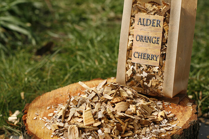 Alder orange cherry bbq smoking wood chips l woods