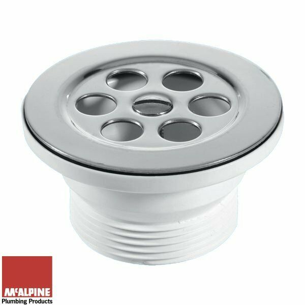 Shower Tray Base Drain Waste Only Flush Grated Centre Pin