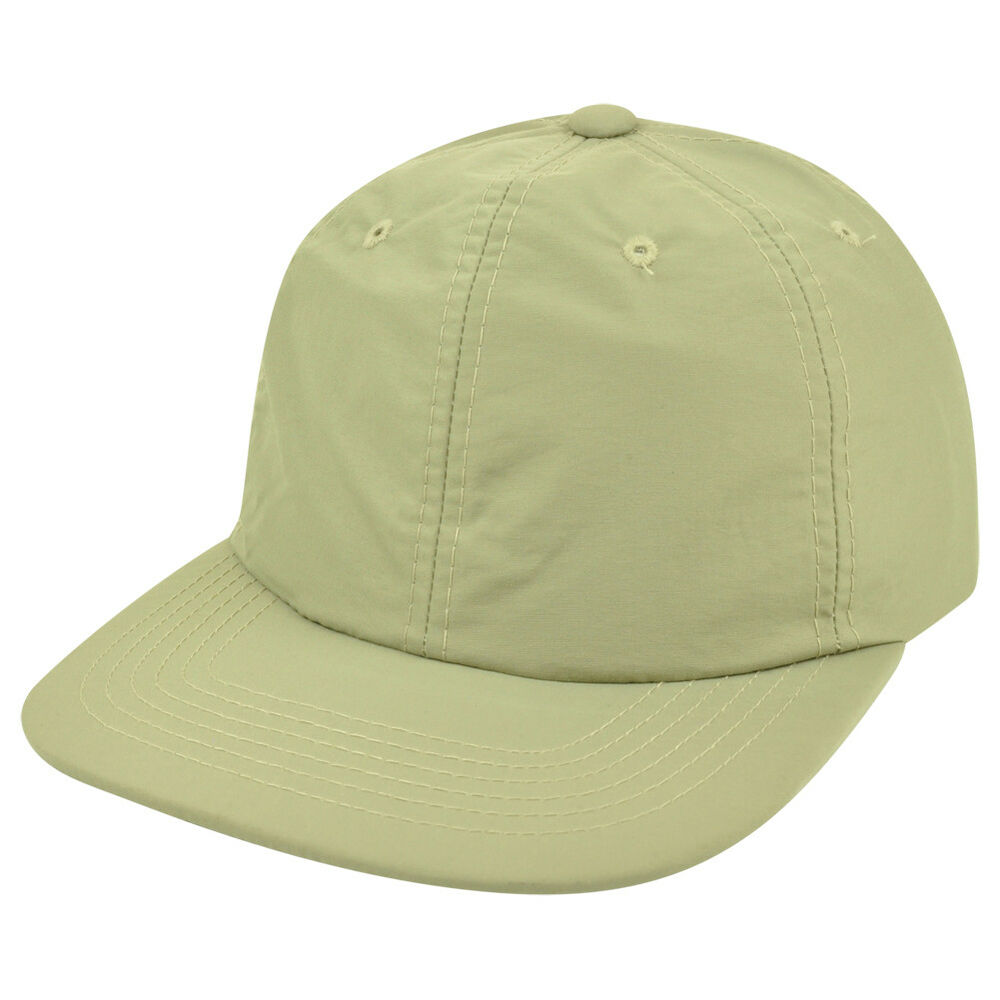 Buckle Hats: American Needle Slouched Relaxed Fit Khaki Nylon Flat Bill