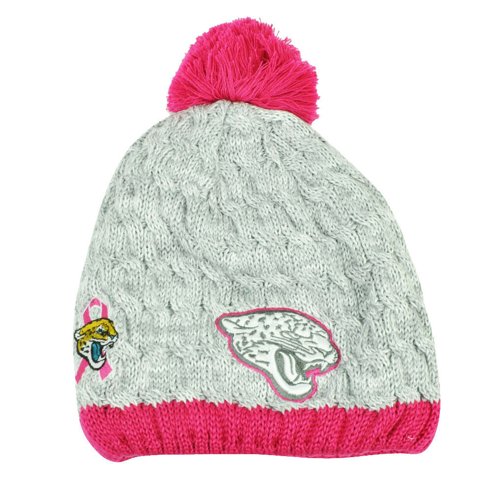 55f0243fef7 Details about NFL New Era Breast Cancer Awareness Knit Beanie Jacksonville  Jaguars Pink Womens