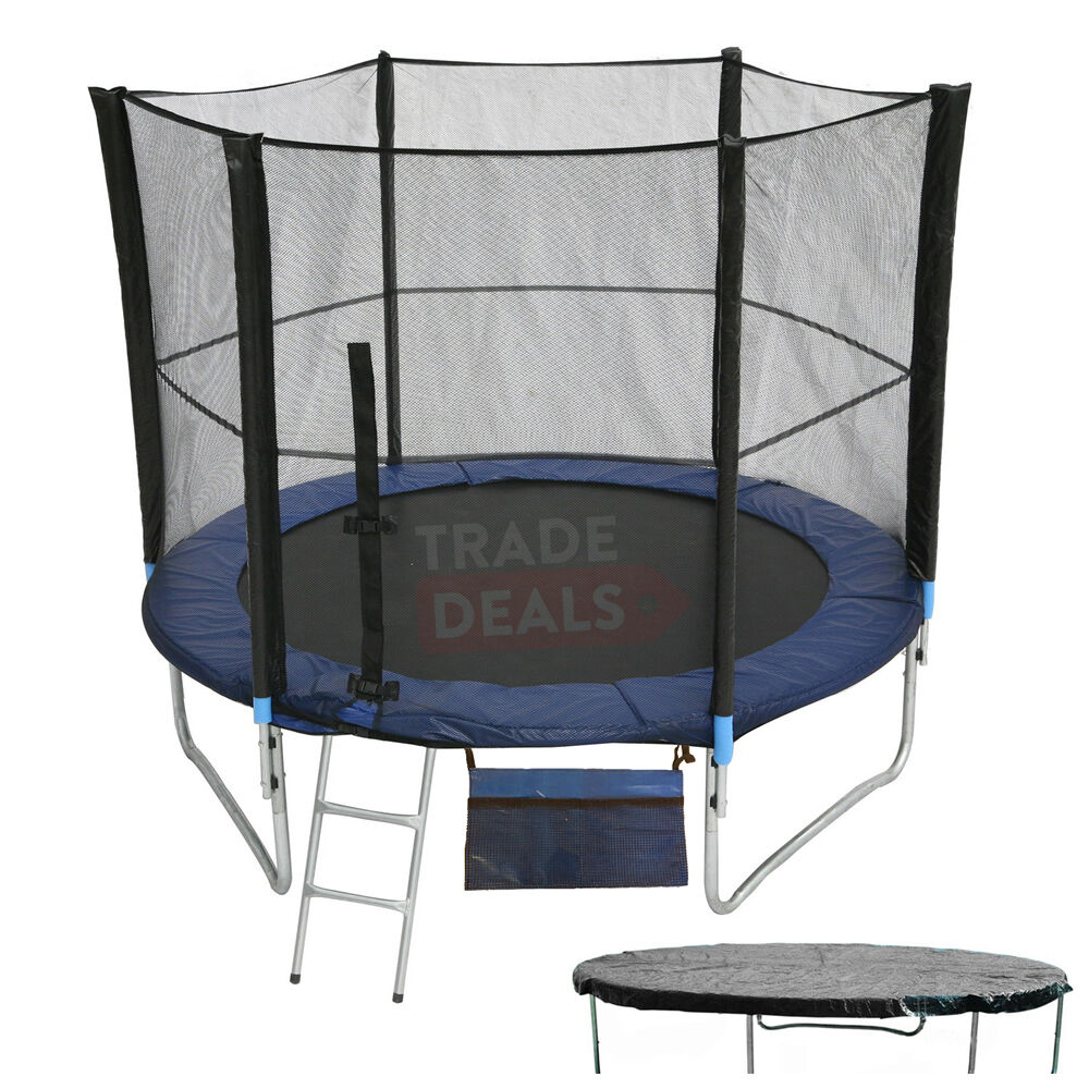 New Heavy Duty Trampoline 14 Ft With Ladder Safety Net: XL 6FT Trampoline With FREE Safety Net Enclosure, Ladder