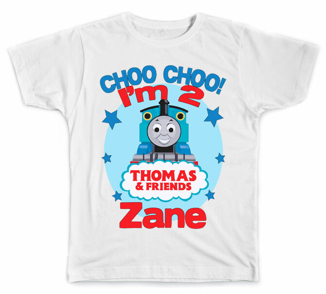 Personalized thomas the train style b birthday t shirt ebay for Personal t shirt printing