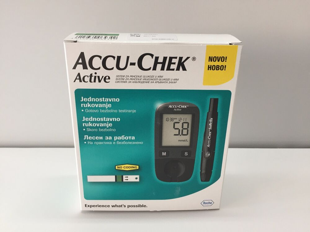 New Roche Accu Chek Active Blood Glucose Meter Monitor No