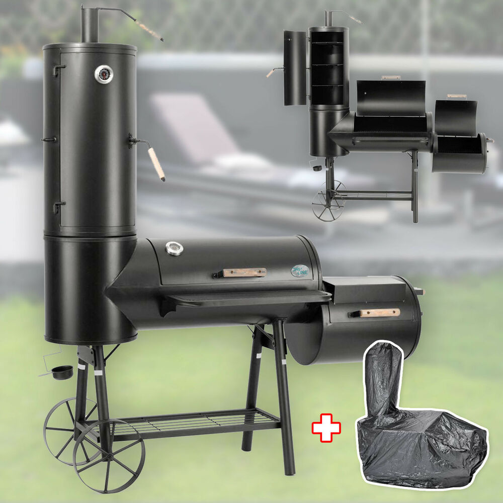profi smoker stahl massiv bbq grillwagen holzkohle 3 5mm vertikal 130kg haube ebay. Black Bedroom Furniture Sets. Home Design Ideas