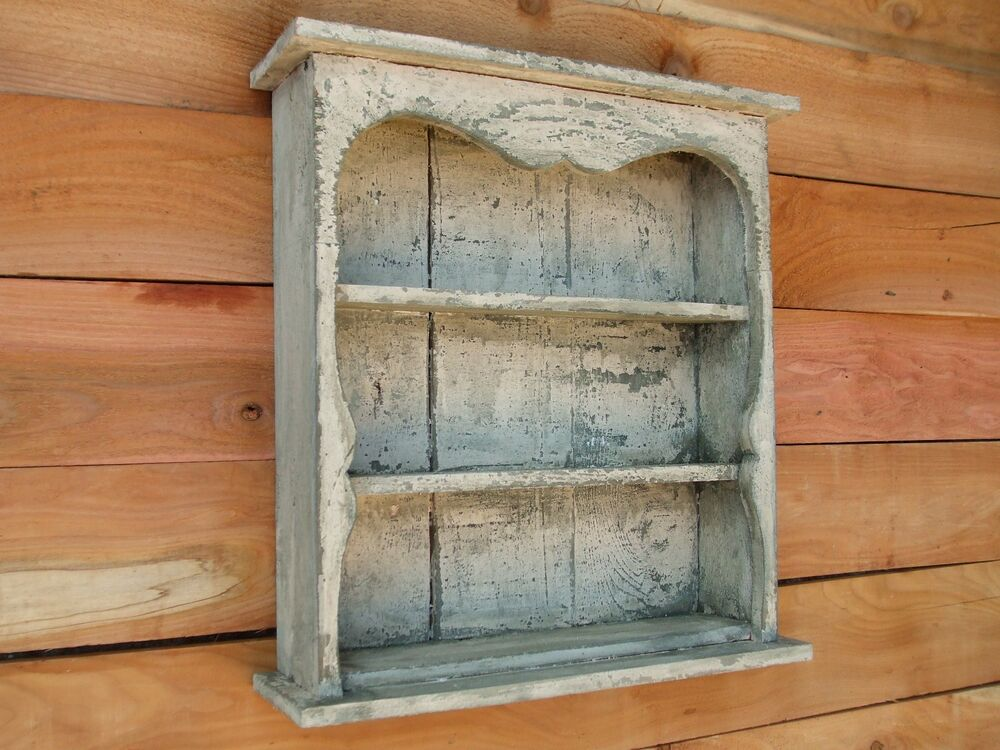 Shabby chic wall shelf distressed book shelf distressed for Case shabby chic country