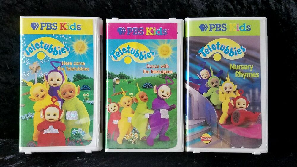 Teletubbies PBS Kids (VHS) Lot Of 3 Volumes 1~2~3
