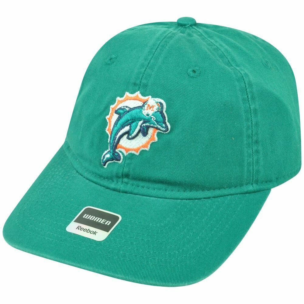 Buckle Hats: NFL Miami Dolphins Reebok Women's Relaxed Fit Green Clip
