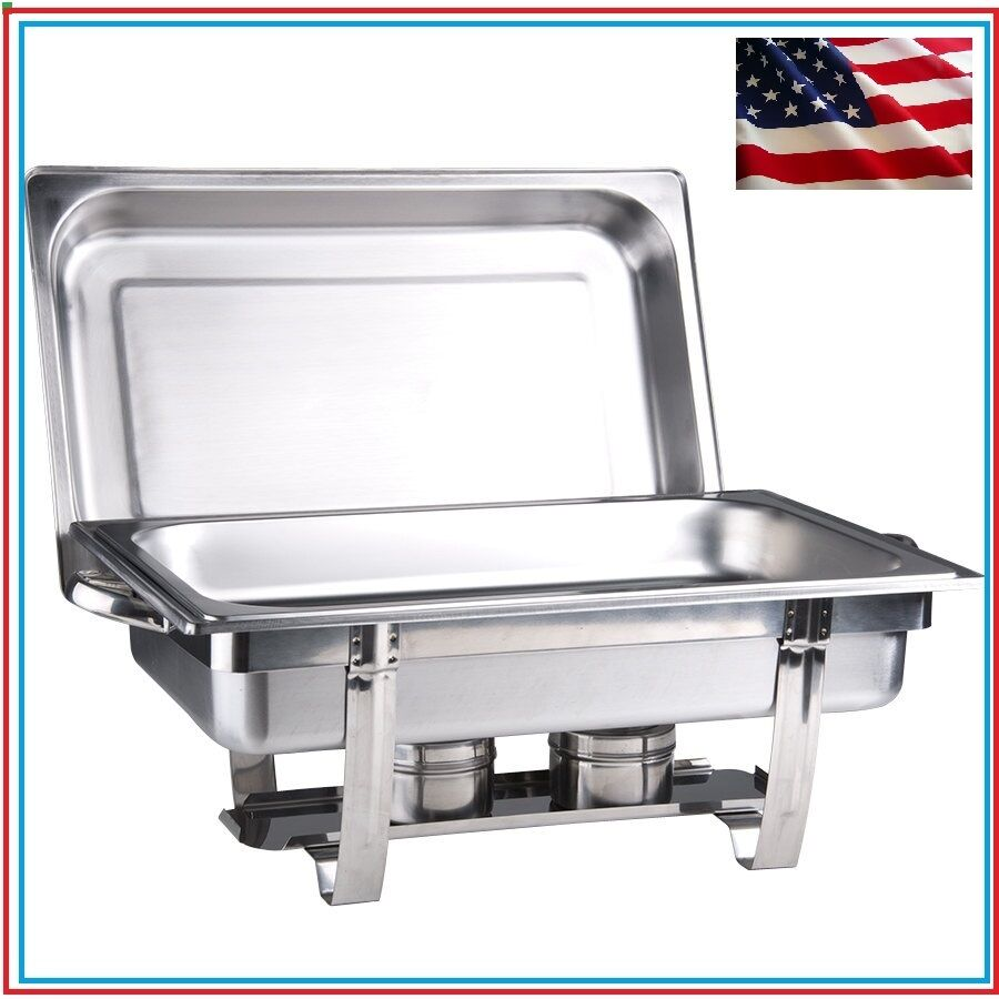 new stackable chafing dish set lowest total price chafer food warmer 10 bk ebay. Black Bedroom Furniture Sets. Home Design Ideas