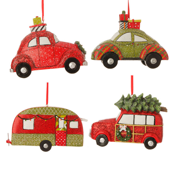 "3507023 RAZ 4.5"" Automobile Christmas Tree Ornament"