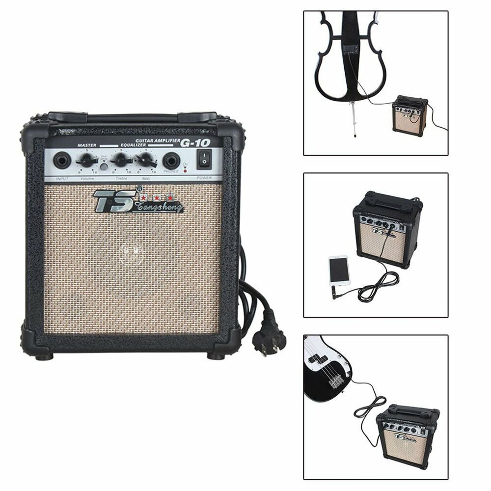 new electric guitar practice amplifier powerful sound amp g 10w oy ebay. Black Bedroom Furniture Sets. Home Design Ideas