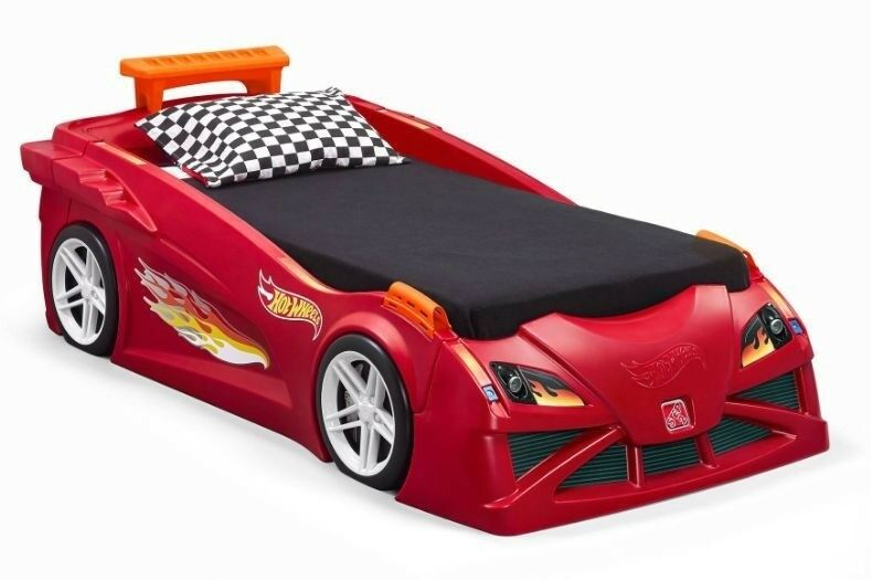 Race Car Twin Bed: Step2 Hot Wheels Toddler-To-Twin Race Car Bed Toy Boys Red