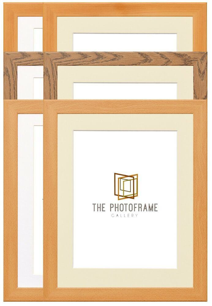 DARK OAK/PINE & BEECH PHOTO FRAME WITH MOUNT MULTI APERTURE MOUNTS ...