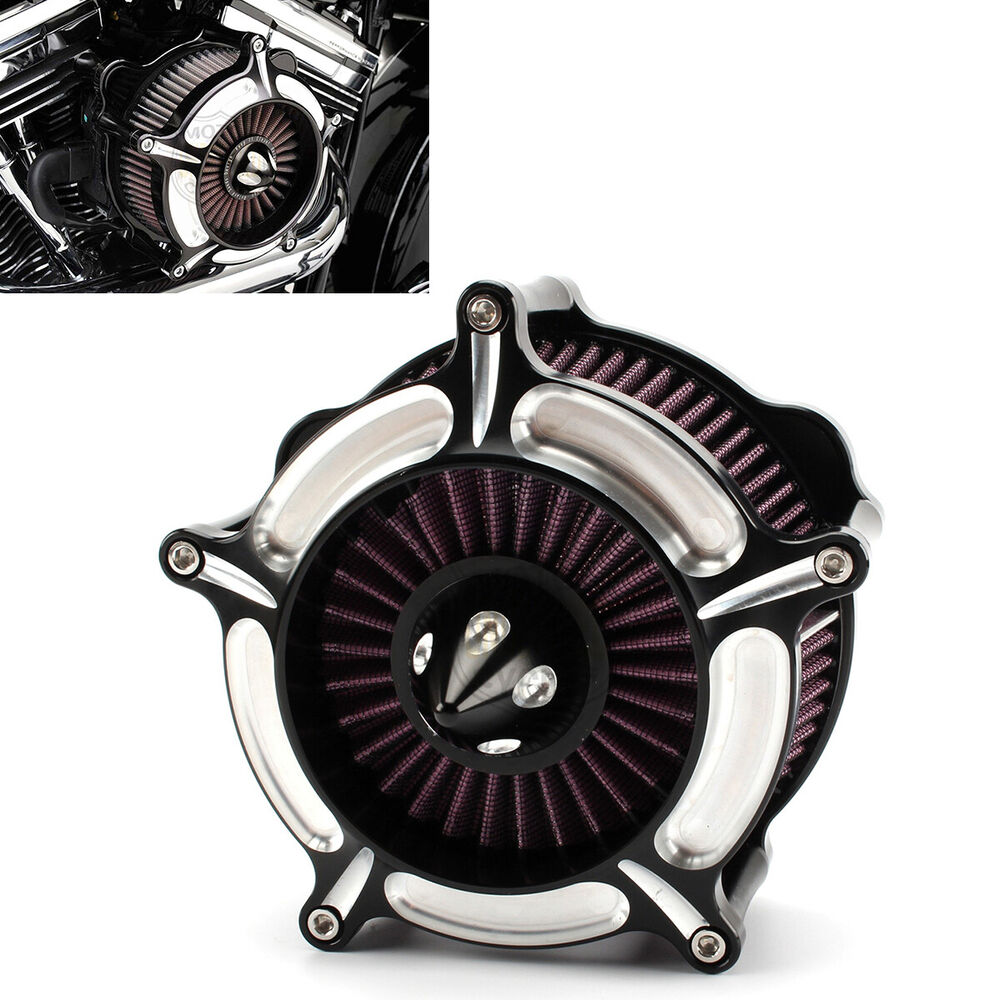 Contrast Cut Turbine Air Cleaner Filter For Harley