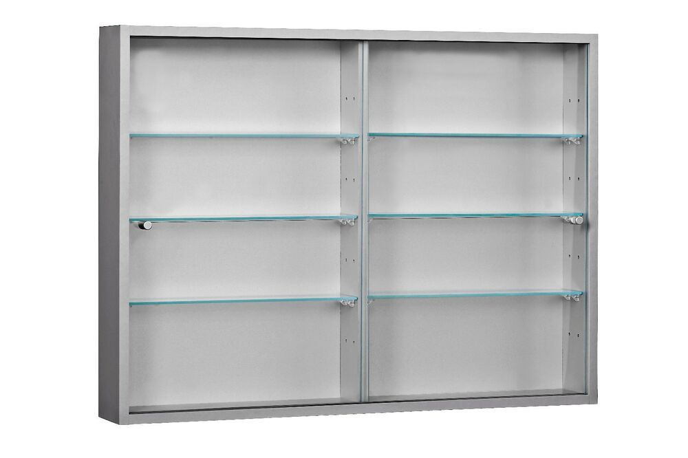 Living Room Large 2 Door Wall Mounted Glass Display Cabinet Ebay