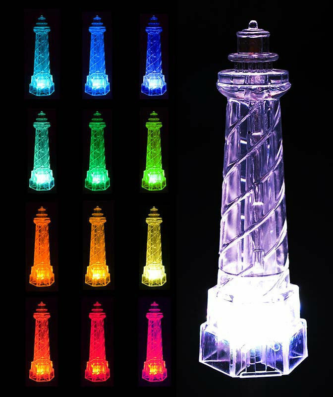 Solar Powered Lighthouse Garden Color Changing Lawn Outdoor Led Light Ebay