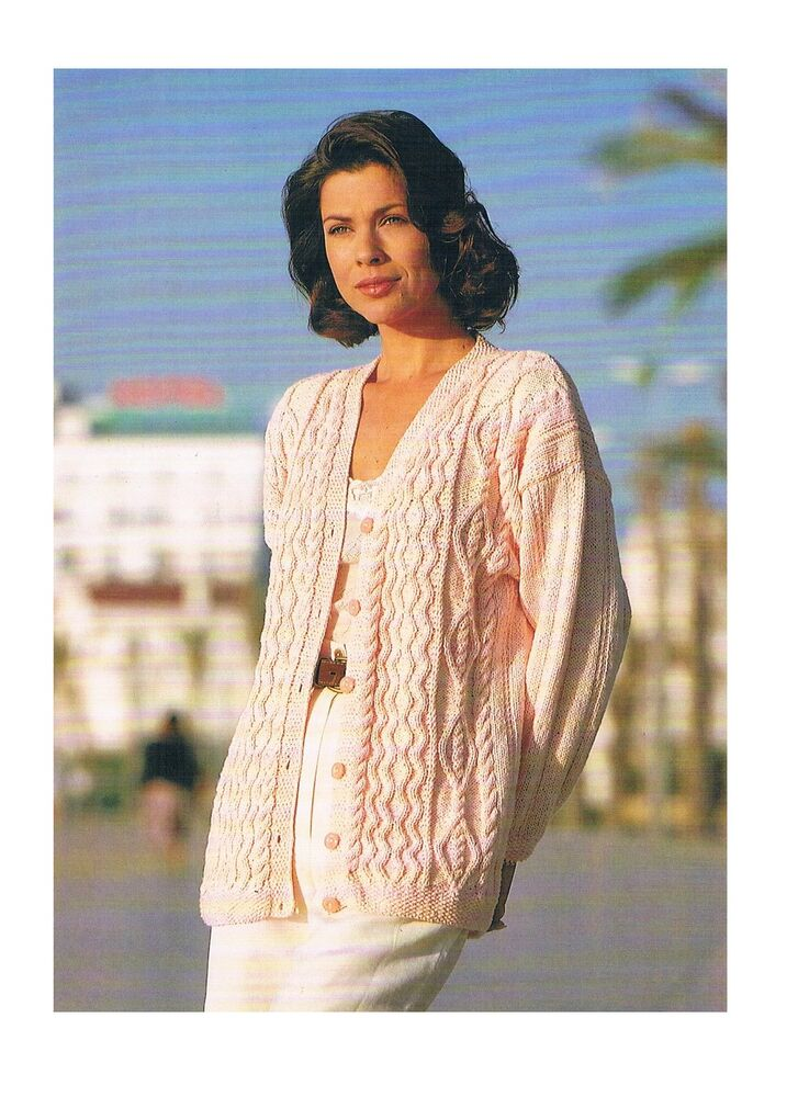 Knitting Pattern Ladies Cable Cardigan *COPY* PATTERN ONLY ...