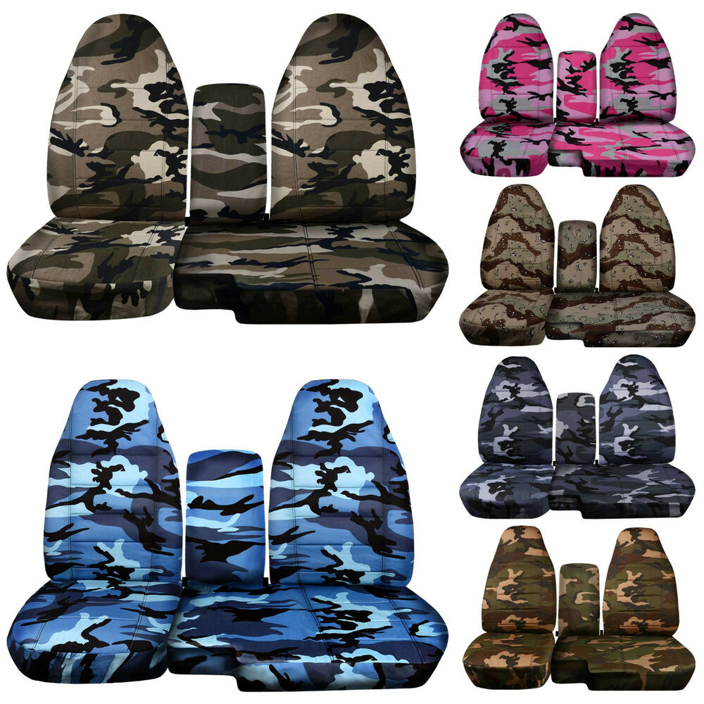 Cc 2004 2012 Ford Ranger Camo Car Seat Covers 60 40 Seat Console Cover Choose Ebay