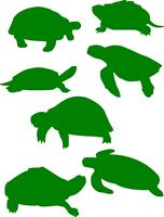 7 turtle stickers ,tiles, glass, walls, cars, laptops