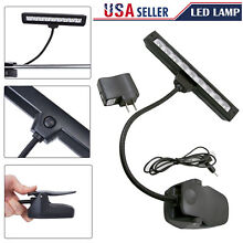New 9 LEDs Clip-On Orchestra Music Stand Flexible LED Lamp Light & AC Adapter