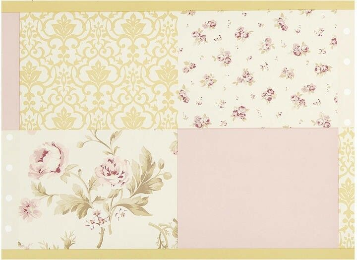 Kidsline sweet lullaby wallpaper border french floral for Toile shabby chic