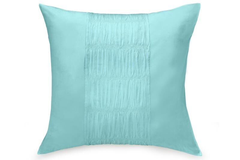 (1) DKNY Willow Teal European Sham Ruched Gathered Shabby ...