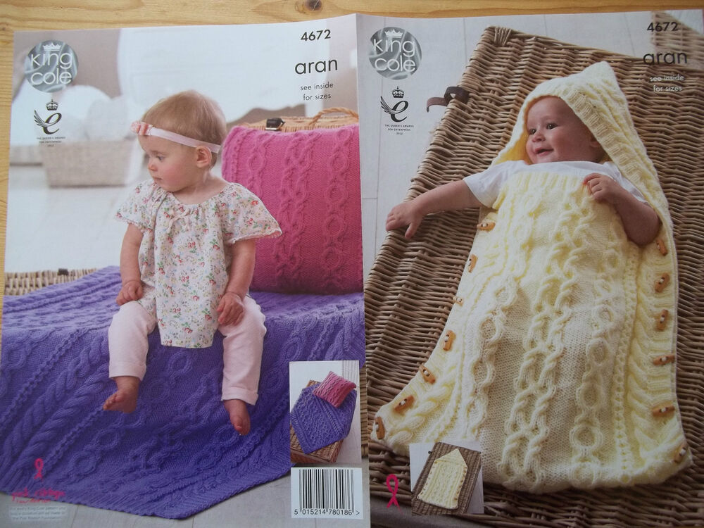 Knitting Pattern Snuggle Blanket : BABY SLEEPING BAG SNUGGLER BLANKET ARAN KNITTING PATTERN ...