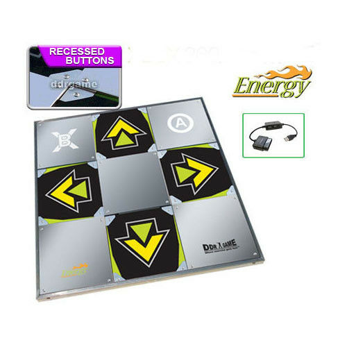 Ddr Energy Metal Dance Pad For Ps2 Wii Xbox Pc Mac Xbox