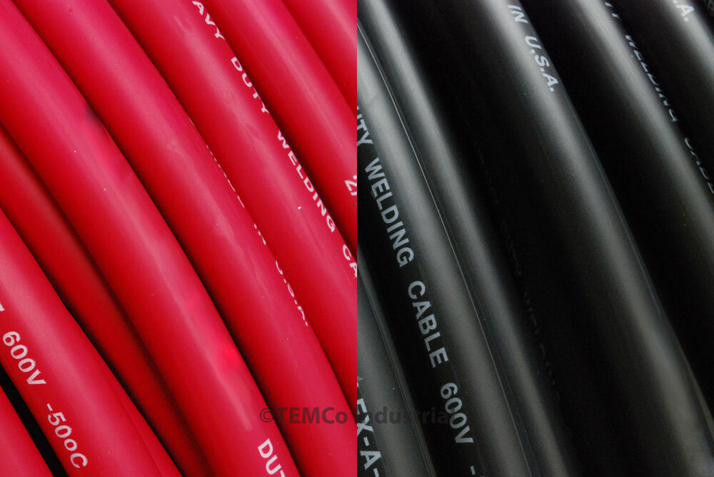 Temco 4 0 Gauge Awg Welding Lead Amp Car Battery Cable
