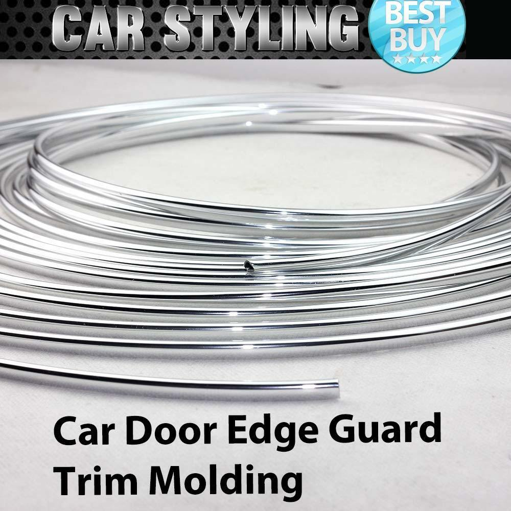 15ft 460cm chrome silver car door edge guard moulding trim for Door edge trim