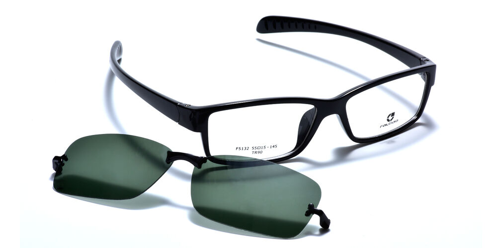 0f46280755 Details about Mens Sporty Eyeglass Frames Magnetic Polarized Clip-On  Driving Sunglasses TR90