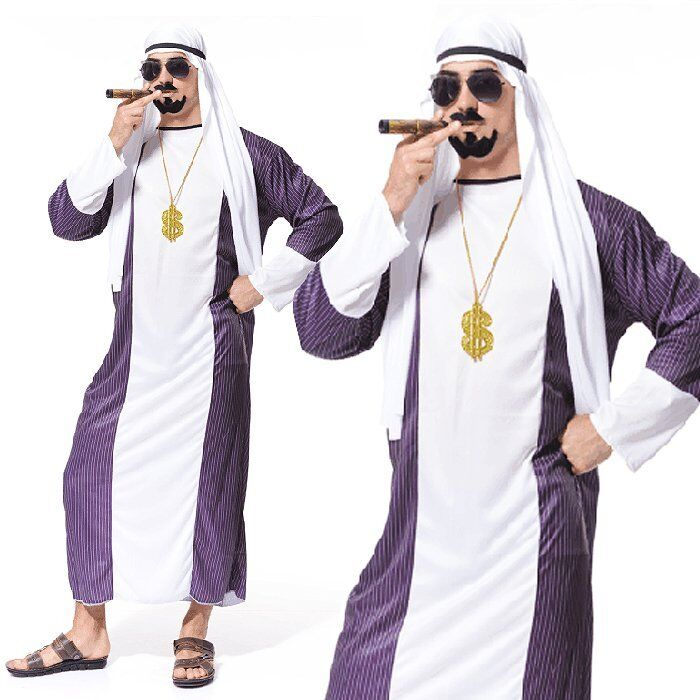 Dubai Gangster Adult Arabian Night Sultan Arab Sheik Mens Fancy Dress Up Costume | EBay