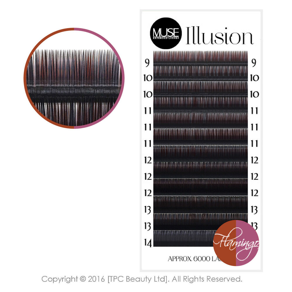 d8a0f2df157 Details about MUSE Illusion Flamingo 0.07 Xd Russian Volume Eyelash  Extensions Coloured Lash