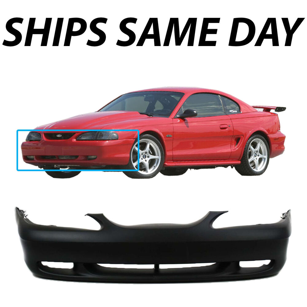 1999 Mustang Bumper Cover >> New Primered - Front Bumper Cover Fascia For 1994-1998 Ford Mustang GT 94-98 | eBay
