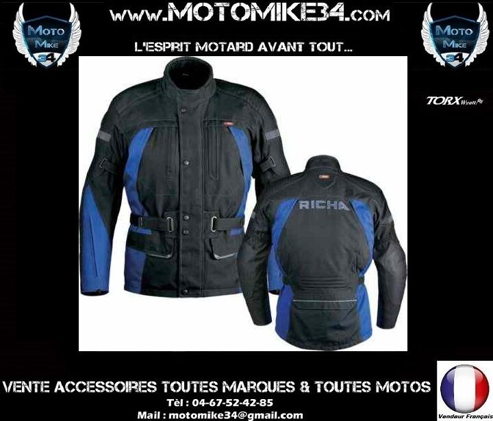veste richa asura blouson imperm able moto adventure touring enduro taille s ebay. Black Bedroom Furniture Sets. Home Design Ideas
