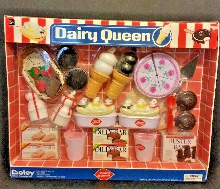 Dairy Queen Toys : Dairy queen nib rare piece pretend play food set boley