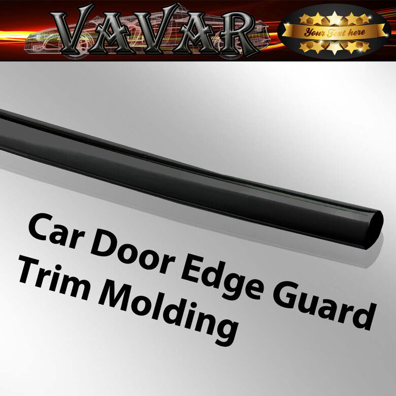 Black 16ft 470cm diy car door edge guards trim molding for Door edge trim